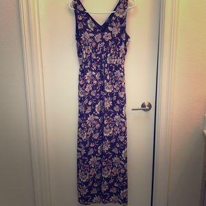 Lucky Brand Navy Floral Maxi Dress